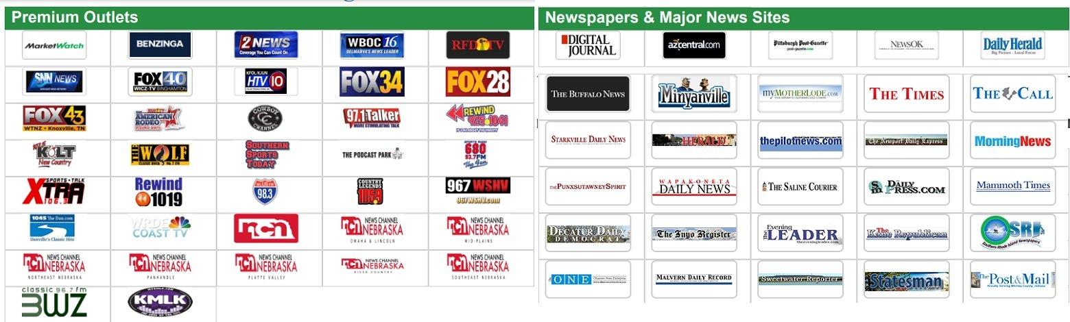 Premium news outlets